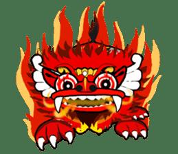 Balinese Barong sticker #140579