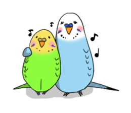 Parakeet's my home! sticker #161463