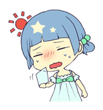 merry girl sticker #166262