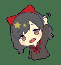 merry girl sticker #166284