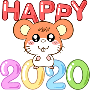 สติ๊กเกอร์ไลน์ สวัสดีปีหนู 2020