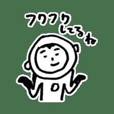He is an ASTRONAUT. sticker #187067