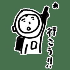 He is an ASTRONAUT. sticker #187079