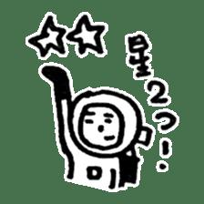 He is an ASTRONAUT. sticker #187096