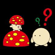 สติ๊กเกอร์ไลน์ circle face 12 mushroom part 1