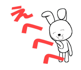 The rabbit which is full of expressions1 sticker #205662