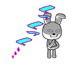 The rabbit which is full of expressions1 sticker #205671