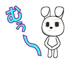 The rabbit which is full of expressions1 sticker #205685