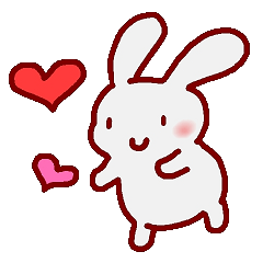 "White bunnies ""Mo-chi-u-sa"""