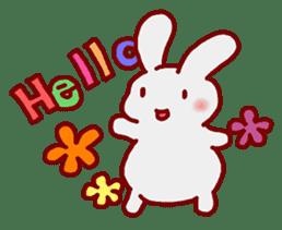 """White bunnies """"Mo-chi-u-sa"""" sticker #220537"""