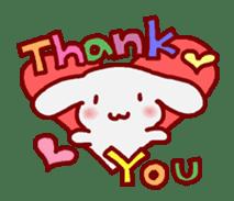 """White bunnies """"Mo-chi-u-sa"""" sticker #220538"""