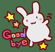 """White bunnies """"Mo-chi-u-sa"""" sticker #220539"""