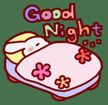 """White bunnies """"Mo-chi-u-sa"""" sticker #220540"""