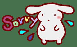 """White bunnies """"Mo-chi-u-sa"""" sticker #220541"""