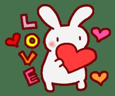 """White bunnies """"Mo-chi-u-sa"""" sticker #220542"""