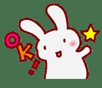 """White bunnies """"Mo-chi-u-sa"""" sticker #220543"""