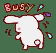 """White bunnies """"Mo-chi-u-sa"""" sticker #220545"""