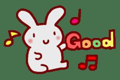 """White bunnies """"Mo-chi-u-sa"""" sticker #220549"""