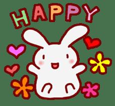 """White bunnies """"Mo-chi-u-sa"""" sticker #220551"""