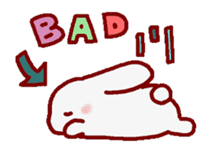 """White bunnies """"Mo-chi-u-sa"""" sticker #220552"""