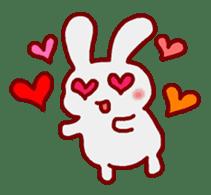 """White bunnies """"Mo-chi-u-sa"""" sticker #220553"""