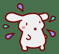 """White bunnies """"Mo-chi-u-sa"""" sticker #220554"""