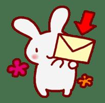 """White bunnies """"Mo-chi-u-sa"""" sticker #220558"""