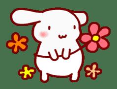 """White bunnies """"Mo-chi-u-sa"""" sticker #220559"""