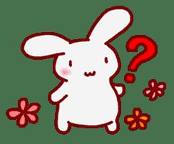 """White bunnies """"Mo-chi-u-sa"""" sticker #220563"""