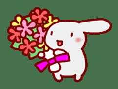 """White bunnies """"Mo-chi-u-sa"""" sticker #220567"""