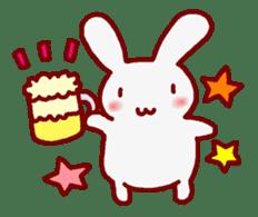 """White bunnies """"Mo-chi-u-sa"""" sticker #220571"""