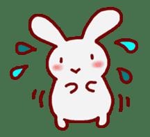 """White bunnies """"Mo-chi-u-sa"""" sticker #220572"""