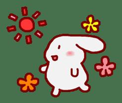 """White bunnies """"Mo-chi-u-sa"""" sticker #220573"""