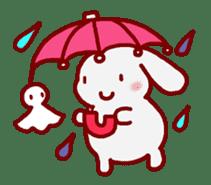 """White bunnies """"Mo-chi-u-sa"""" sticker #220574"""