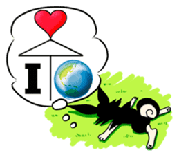 Dogs,Cats and Love Umbrellas1(Japanese) sticker #222169