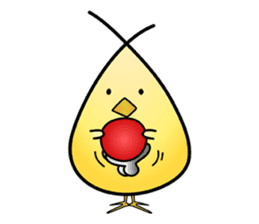 Group behavior chicken Piyo sticker #224001