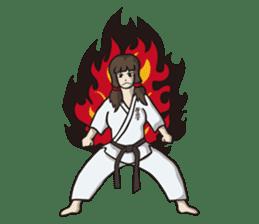 Kyokushin Karate -White- sticker #224300