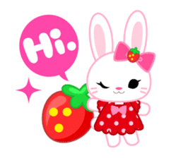 Strawberry&Rabbit sticker #224500
