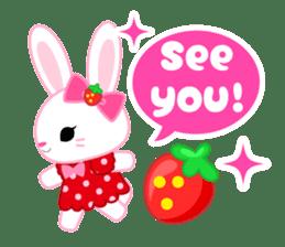 Strawberry&Rabbit sticker #224511