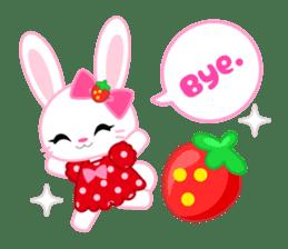 Strawberry&Rabbit sticker #224515