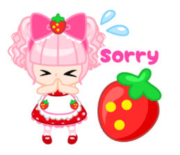 Strawberry&Rabbit sticker #224518