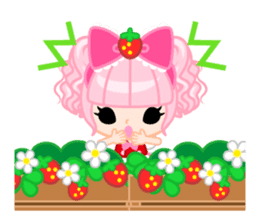 Strawberry&Rabbit sticker #224519