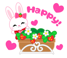 Strawberry&Rabbit sticker #224533