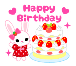 Strawberry&Rabbit sticker #224536