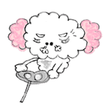 The dog of a pink ear. sticker #228136