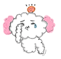 The dog of a pink ear. sticker #228155