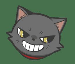 Black cat YORU sticker #228722