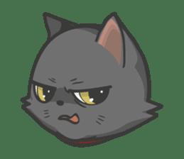 Black cat YORU sticker #228724