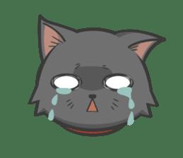 Black cat YORU sticker #228727