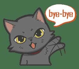 Black cat YORU sticker #228731